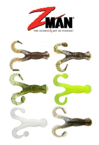 "Z Man Pop Frogz 4/"" 4pk Soft Body Frog Creature Bait Fishing Lure Bait ZMan Baits"