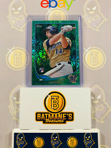 2013-Topps-Jeff-Bianchi-US183-RC-Rookie-Green-Refractor-Baseball-Card-NM-M-MINT