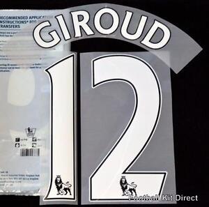 Arsenal Giroud 12 Premier League Football Shirt Name Set Home ps pro ... 1e1c5b832