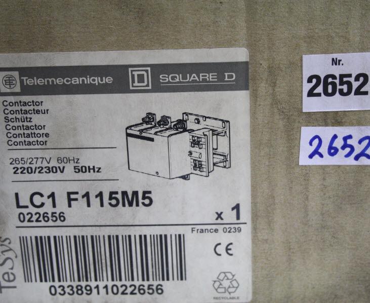 Schneider lc1f115m5 telemecanique square d protège Contactor f115m5 lc1 f115m5 Contactor 3 broches 5 b8cbf5