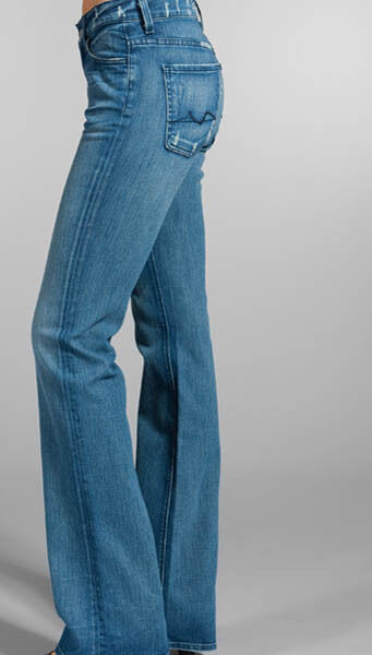 7 For All Mankind Taille Haute Bootcut Jean 27 Myrella 1 (ap344y756)