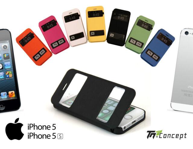 Housse / Coque / Etui à Rrabat - Iphone 5 / Iphone 5S - 7 Couleurs - NEUF