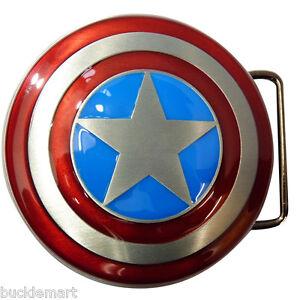 Captain-America-Schild-Guertelschnalle-Avengers-Alle-Metall