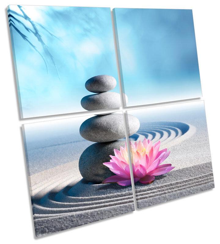Piedras Cuadrado ZEN Floral Lona Pared Arte Cuadrado Piedras de impresión de múltiples af6065
