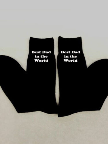 PERSONALISED MEN BEST DAD SOCKS MERRY CHRISTMAS DADDY GIFT PRES EMBROIDERED