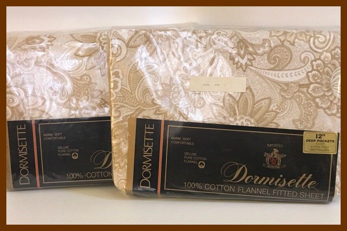 Dormisette Twin Flannel Sheet Set - Flat Fitted - NEW - Germany