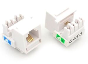 10 pcs cat3 rj11 6p4c phone telephone keystone jack 110 h modular rj25 wiring diagram image is loading 10 pcs cat3 rj11 6p4c phone telephone keystone