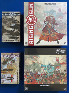 *NEW* RISING SUN Board Game - FULL Daimyo Pledge Box + Kickstarter Exclusives
