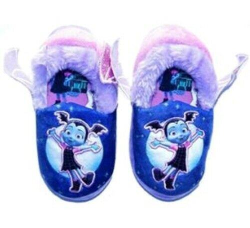 Disney Vampirina Filles Pantoufles Maison Chaussures Violet Taille 7//8 rose NOUVEAU