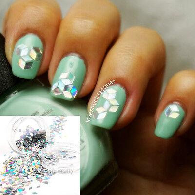 Holo Glitter Nagel Sticker Glitzerpuder Glitzerstaub Nail Art Dekoration
