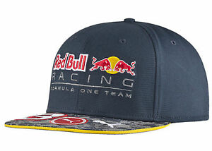 AUTHENTIC PUMA RED BULL RACING F1 TEAM DANIEL RICCIARDO FLAT BRIM ... c59a9a052fa