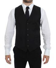 NWT $400 DOLCE & GABBANA Black Formal Dress Vest Gilet Jacket IT50 / US40 / L