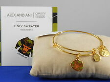 Alex and Ani Charity By Design Ugly Sweater Bracelet Shiny Gold Retails $38