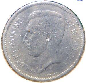 Belgium-1931-5-Francs-Nickel-KM-97-1