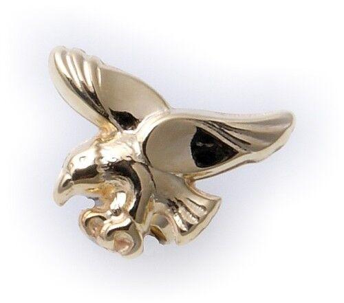 Nuevo pendientes caballeros águila conector real de oro 333 8 quilates grán dorado Top