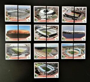 Panini-coupe-du-monde-2010-Stade-Stade-ville-city-equipe-COMPLETE-SET-WORLD-CUP-WC-10