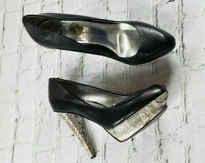 Jessica-Simpson-Women-039-s-Black-Platform-High-Heels-Stilettos-Size-7-5