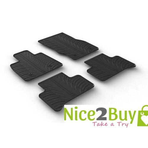 Kia Sorento ab 2015 Gummi-Fussmatten Reifenprofil-Design schwarz