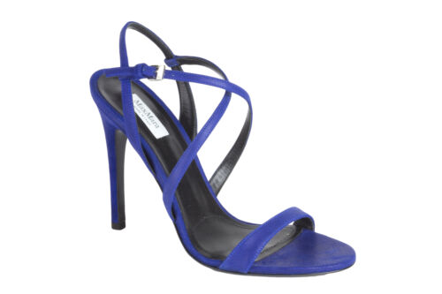 IT 37 $535 NEW MAX MARA Women/'s Carella China Blue Strappy Sandals US 7