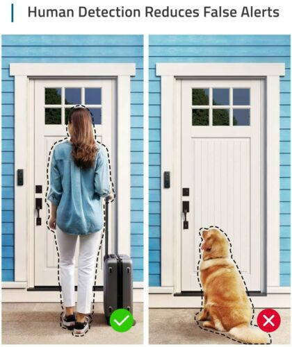 eufy Security No Monthly Fee @NEW@ 2-way Audio 1080p Wi-Fi Video Doorbell