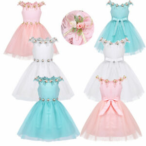 Princess-Baby-Floral-Girls-Kid-Party-Dress-Gown-Pageant-Bridesmaid-Wedding-Dress