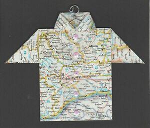 Origami-Map-Shirt-Romania-Bucharest-Buzau-Ploiesti-Videle-Calarasi-Sinaia