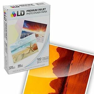 Ld Glossy Inkjet Photo Sticker Paper Size 8 X 11 100 Pcs Monos