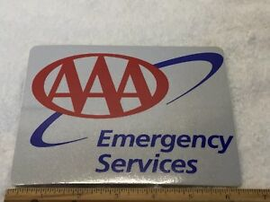 Details about VINTAGE Triple AAA Auto Club Emergency Service Sticker
