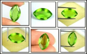 5.25 Ct Pakistan Peridot August Birthstone Natural Marquise AGI Certified A51662