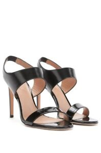 6fefe52d05 Image is loading Womens-Leather-Ankle-Strap-Sandals-By-HUGO-BOSS-