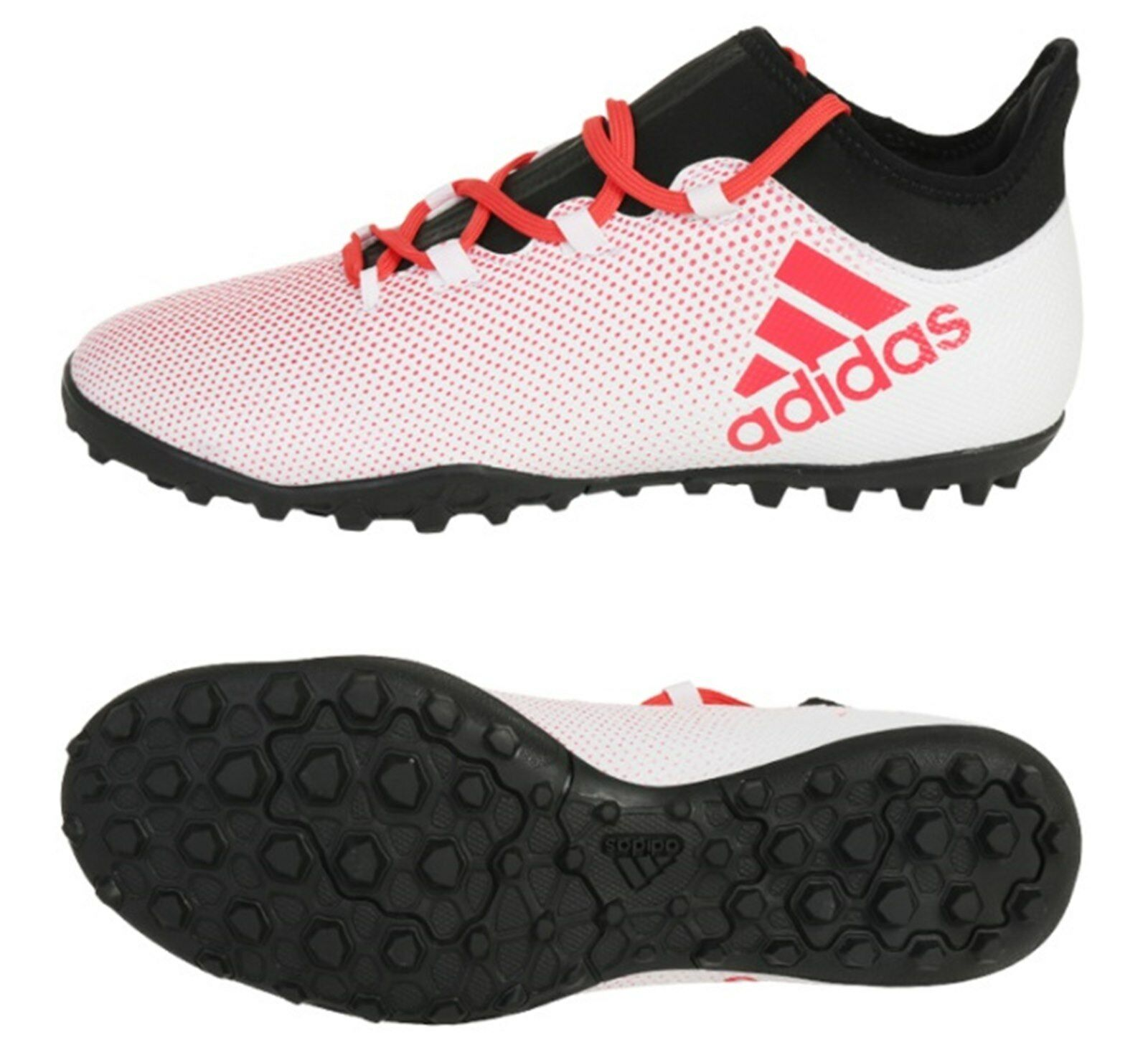 Adidas Men Techfit X Tango 17.3 TF Cleats Futsal Weiß schuhe Soccer Spike CP9136