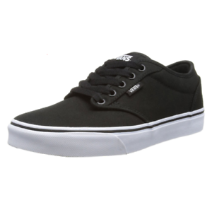 VANS-Atwood-Mens-Canvas-Skater-Shoes-Black-amp-White-Size-UK-14