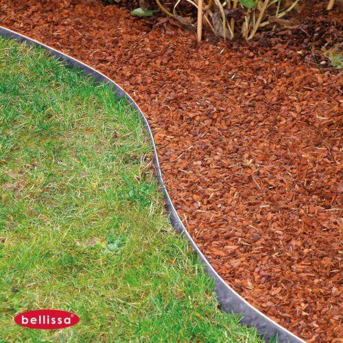 Bellissa Pelouse Métal Galvanisé 118 x h13 cm Premium pour vos parterres 99680