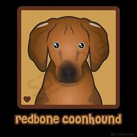 Redbone Coonhound Cartoon T-shirt - Men, Women, Youth, Tank, Short, Long Sleeve