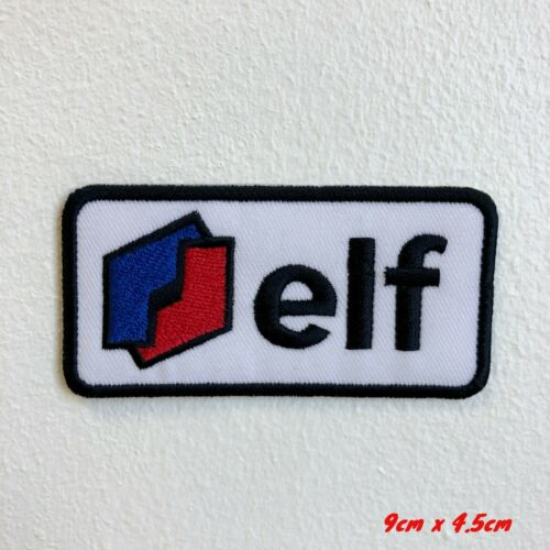 Elf Racing Log Badge Iron Sew on Embroidered Patch applique