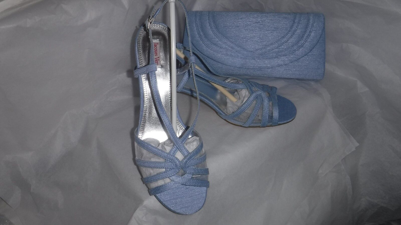 JACQUES con Vert Blu Chiaro  Scarpe con JACQUES cinturino EU 39 (6  Chiaro  8fc769