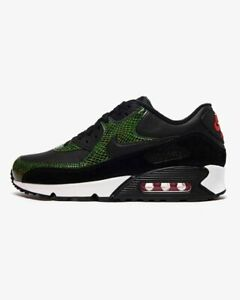 Nike-Air-Max-90-QS-Python-vert-noir-blanc-CD0916-001-UK-7