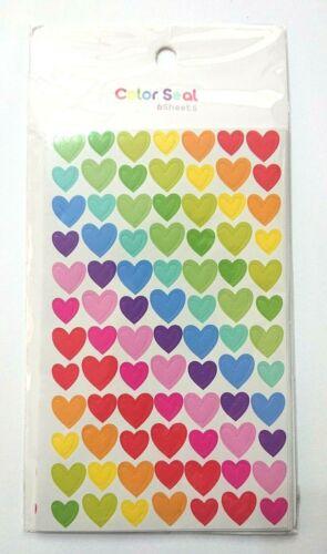 Paquete De 6 Hojas-Arco Iris Corazón Pegatinas 6mm 10mm-Craft Adornos