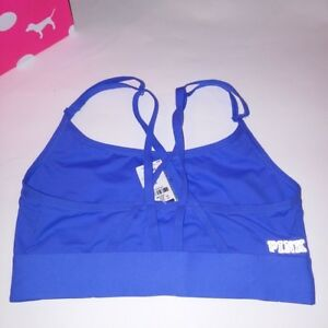 900637dc1c504 Victoria Secret PINK Bralette Small Blue Sports Bra Ultimate Solid ...