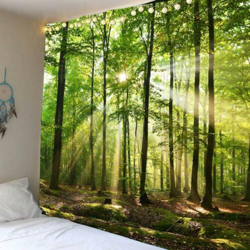 Creative 3D Hanging Poster Waterproof Tapestry Picnic Mat Sunshine Decor J