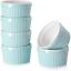 8 oz Ramekins Ramekins for Creme Brulee Porcelain Ramekins Oven Safe Classic ...