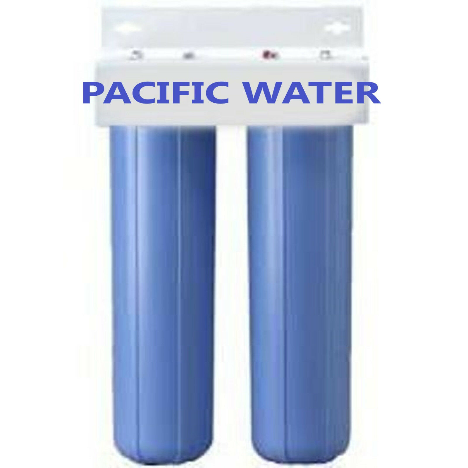 DUAL BIG bleu WATER FILTERS HOUSING Canister For 4.5  X 20  Filter with 1 NPT