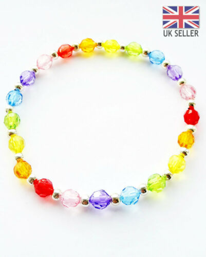 COLOR PERSONALISED NEW BABY RAINBOW BRACELET BIRTHDAY//WEDD//CHRISTEINNG–ANY NAME