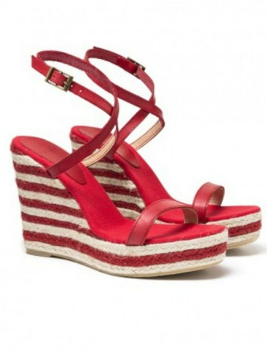 SISLEY Leather Espadrille Wedge Sandals Größe UK-5 UK-5 UK-5 EU-38 67c36e