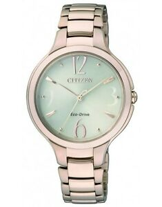 Citizen EP5992-54P Ladies Solar Eco-Drive Watch Rose Gold NEW RRP $550.00