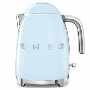 Smeg-Blue-50-039-s-Style-3D-Logo-1-7-Litre-Kettle-KLF03PBAU-Free-Delivery