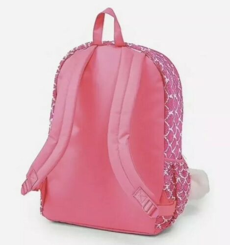 NWT Justice Bright Pink Mermaid Scales Flip Sequin Backpack /& Lunchbox