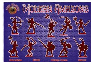 Modern Amazons1//72 Soldiers Figures Model Kit DARK ALLIANCE