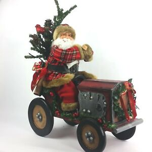 Raz Imports Musical Santa On A Tractor With Led Lights 24