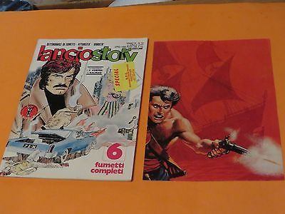 Comics Collectibles Beautiful 1977 Lancio Story Comic Book Italy In Italian Includes Free Insert Art Poster 13